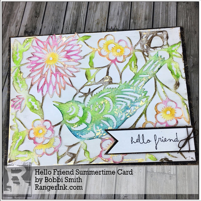 Hello Friend Summertime Card by Bobbi Smith