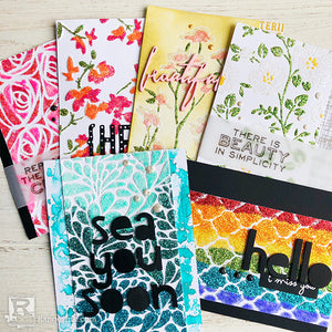 Sparkly Textured Cards by Jenn Shurkus