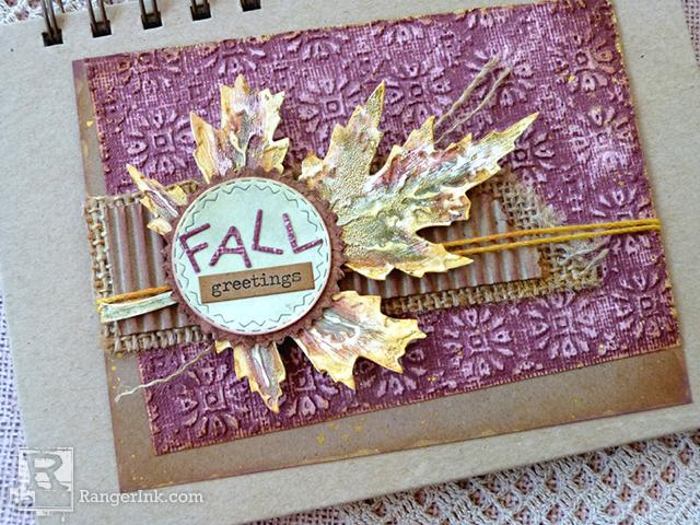 Fall Greetings Card by Audrey Pettit