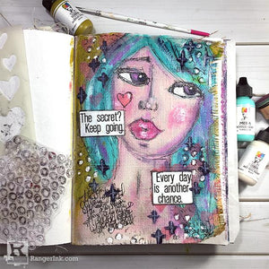 Every Day is Another Chance Art Journal Page by Carisa Zglobicki