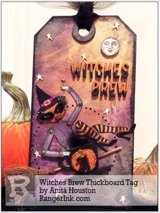 Witches Brew Thickboard Tag by Anita Houston