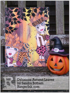 Dylusions Autumn Leaves by Sandra Botham