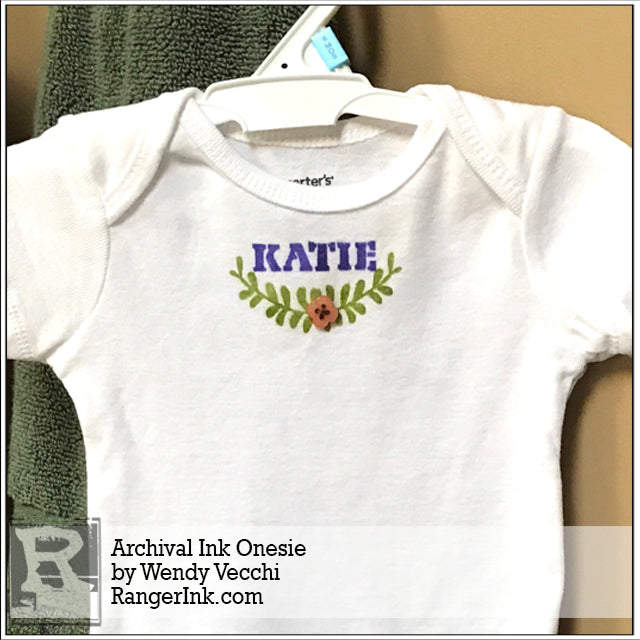 Archival Ink Onesie by Wendy Vecchi