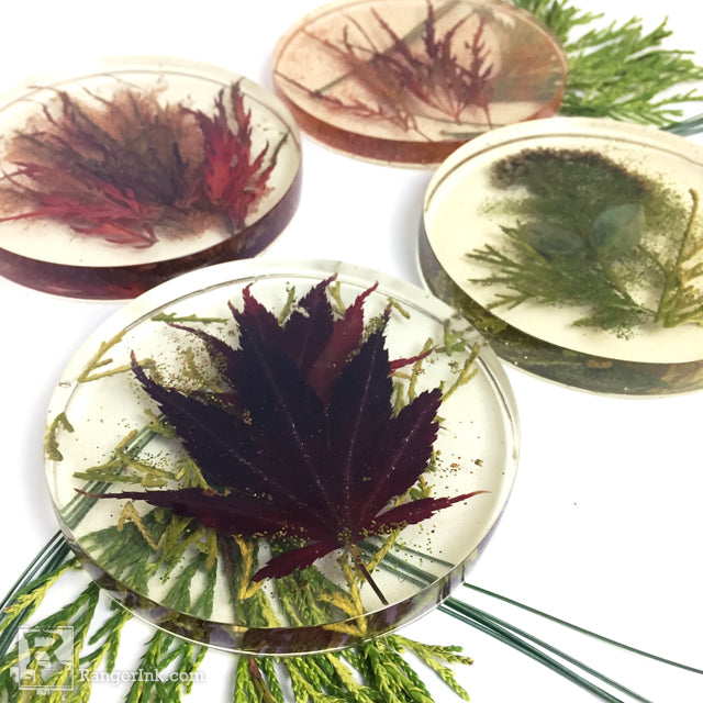 ICE Resin® Botanical Coasters by Kathy Paglia