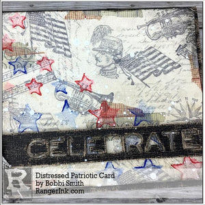 Distressed Patriotic Card by Bobbi Smith