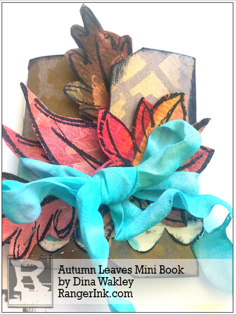 Autumn Leaves Mini Book by Dina Wakley