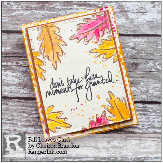 Fall Leaves Card by Cheiron Brandon