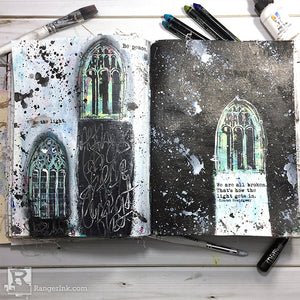 Be The Light Art Journal Page by Carisa Zglobicki