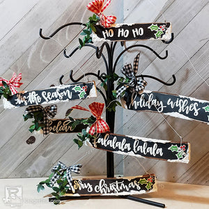 Letter It™ Wood Branch Christmas Ornaments by Anita Houston