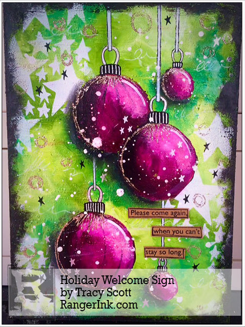 Holiday Welcome Sign by Tracy Scott