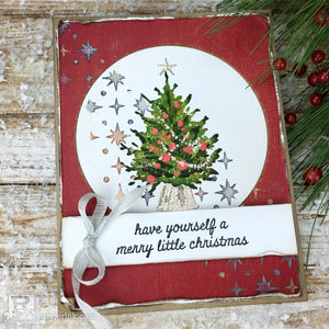 Merry Little Christmas Card by Bobbi Smith