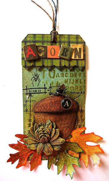 3-D Sticky-Back Acorn Tag