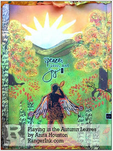 Playing in the Autumn Leaves Journal Page by Anita Houston