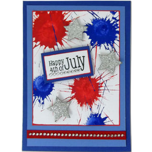 Adirondack® Acrylic Paint Dabber Fourth of July Card By Patti Behan