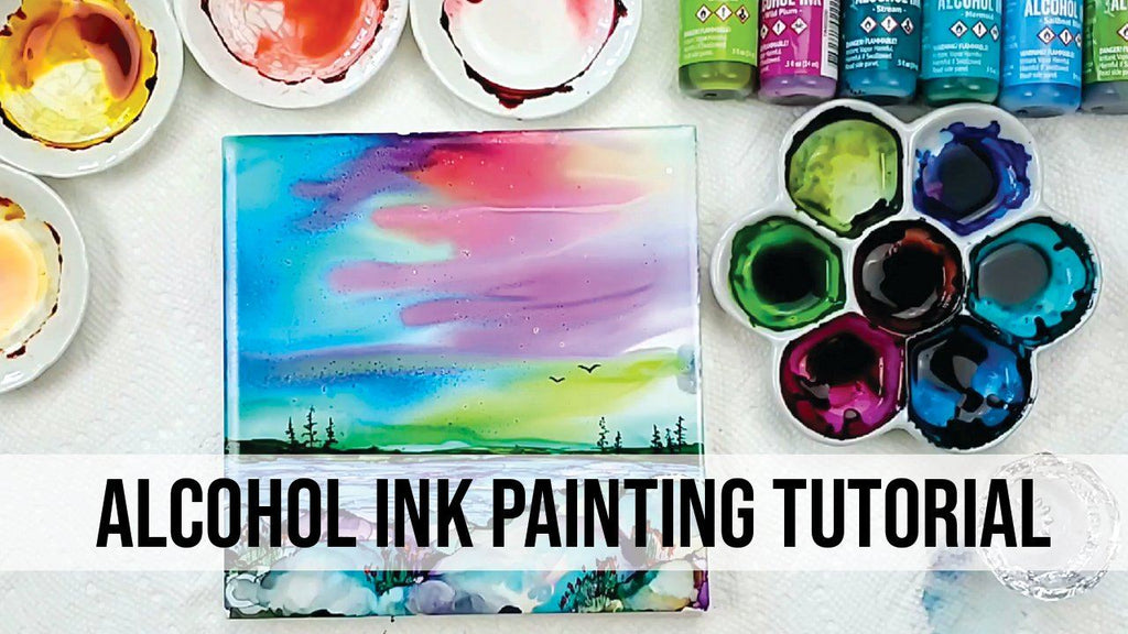 How to Paint with Alcohol Ink on Tile