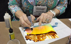 Alcohol Ink Blending Solution vs. Alcohol