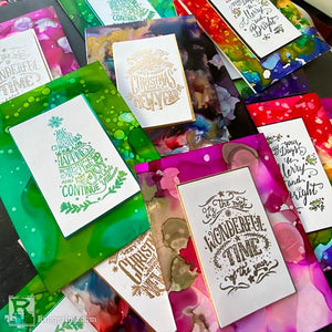 Alcohol Ink Christmas Card Stash by Cheiron Brandon