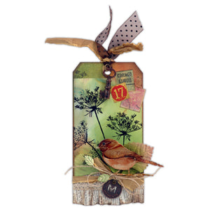 Sweet Birdie Alcohol Ink Tag By Richele Christensen