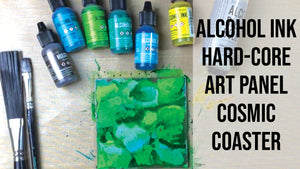 Alcohol Ink Hard-Core Art Panel Coaster
