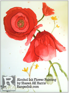 Alcohol Ink Flower Painting by Sharen AK Harris