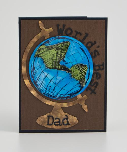 Alcohol Ink World's Best Dad Card