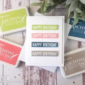 Archival Ink™ Happy Birthday Card by Joy Baldwin