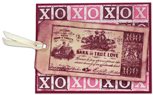 Bank of True Love Card By Tim Holtz