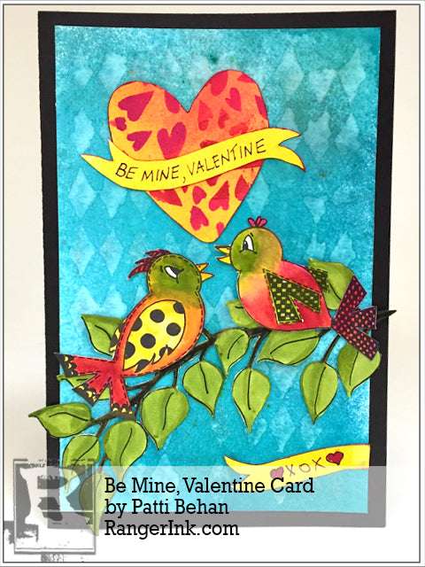 Be Mine Valentine Card by Patti Behan