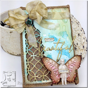 Beautiful Moments Burlap Panel by Bobbi Smith