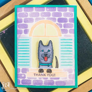 Who's That Dog in the Window Card by Betz Golden