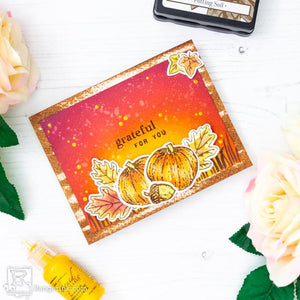 Blended Fall Sky Card by Laura Volpes