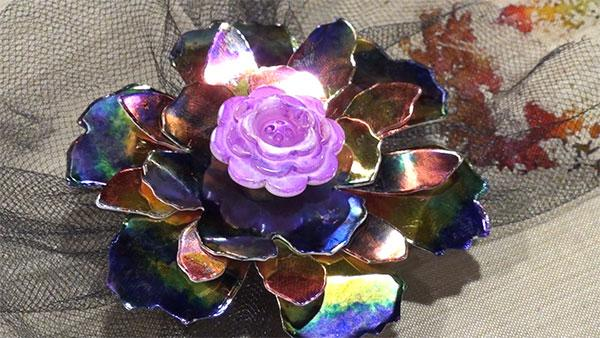 CHA 2014 Make-It-Take-It: Tattered Foil Flower by Debbie Tlach