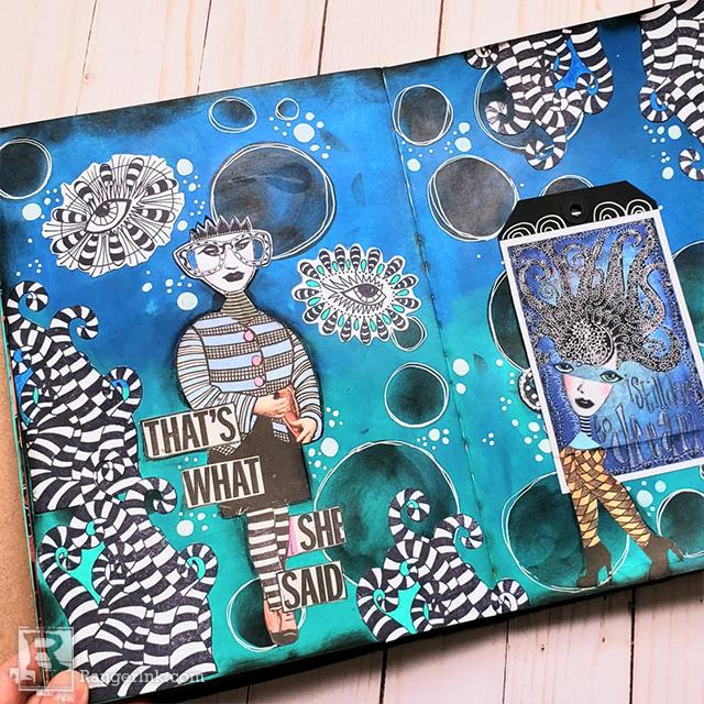 Canvas Flap Journal Page by Megan Whisner Quinlan