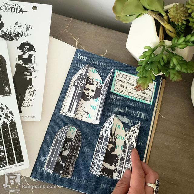 Cathedral Window Journal Spread by Megan Whisner Quinlan
