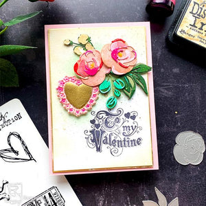 Colorize Floral Valentine Card By Cheiron Brandon