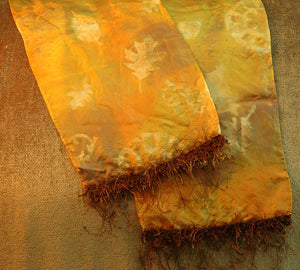 Colorwash Autumnal Faux Batik Scarf by Candy Colwell