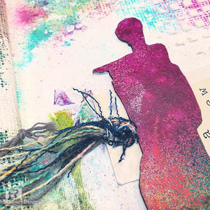 Creating a Cohesive Two-Page Art Journal Spread by Jessica Sanders