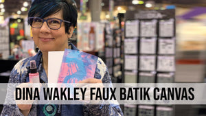 Dina Wakley Faux Batik Canvas Technique