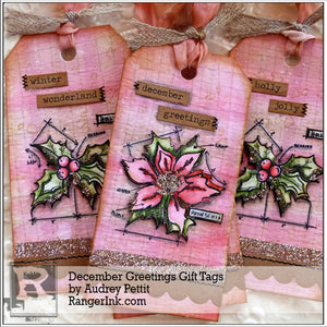 December Greetings Gift Tags by Audrey Pettit
