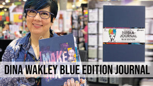Dina Wakley MEdia Blue Edition Journal