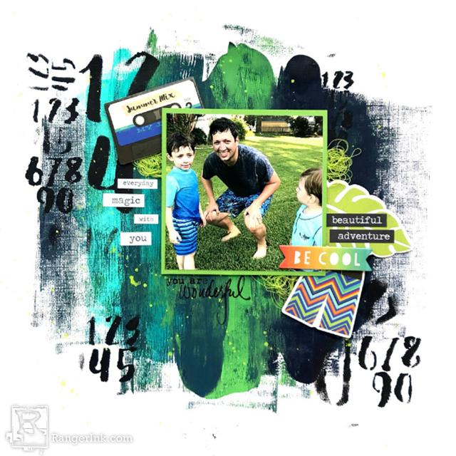 Summer Mixed Media Scrapbook Layout By Jess Francisco