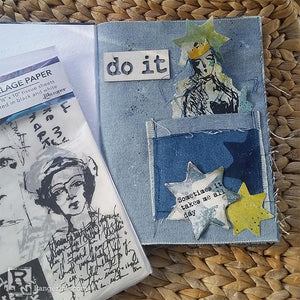 Denim Pocket Journal Page by Megan Whisner Quinlan