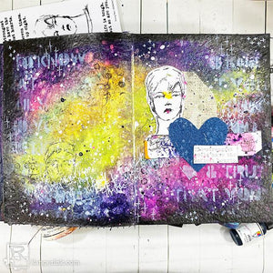 The Strongest Souls Gloss Sprays Galaxy Art Journal Page Carisa Zglobicki