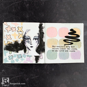 Dina Wakley Media Muted Palette Art Journal Page By Cheiron Brandon
