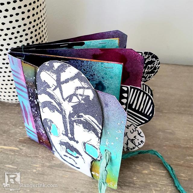 Dina Wakley MEdia Tag Pocket Book by Megan Whisner Quinlan