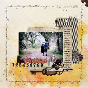 Distress Captured Scrapbook Layout