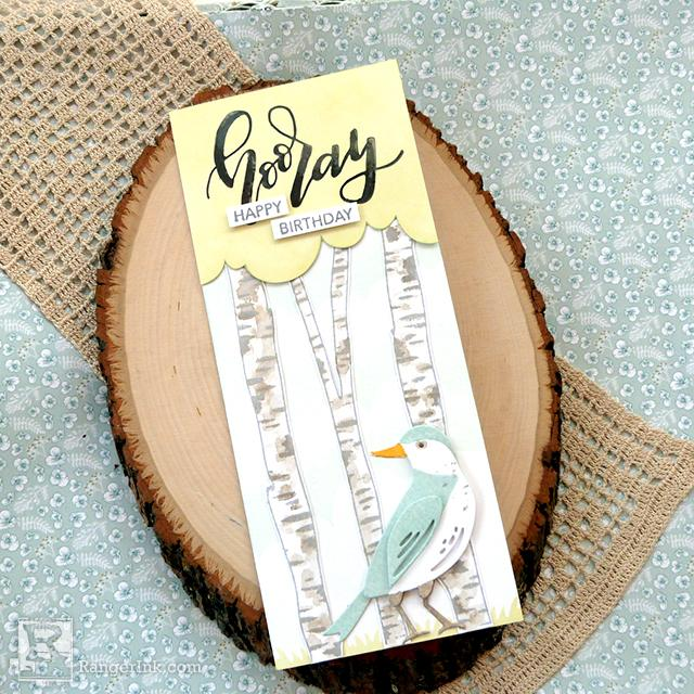 Distress® Hooray Happy Birthday Card by Audrey Pettit