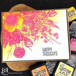Happy Thoughts Distress Mini Ink Card by Bobbi Smith