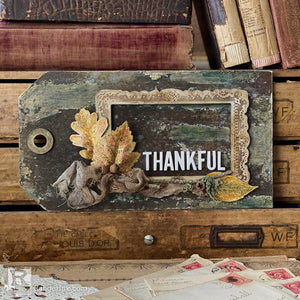 Thankful Home Decor Tag by Paula Cheney