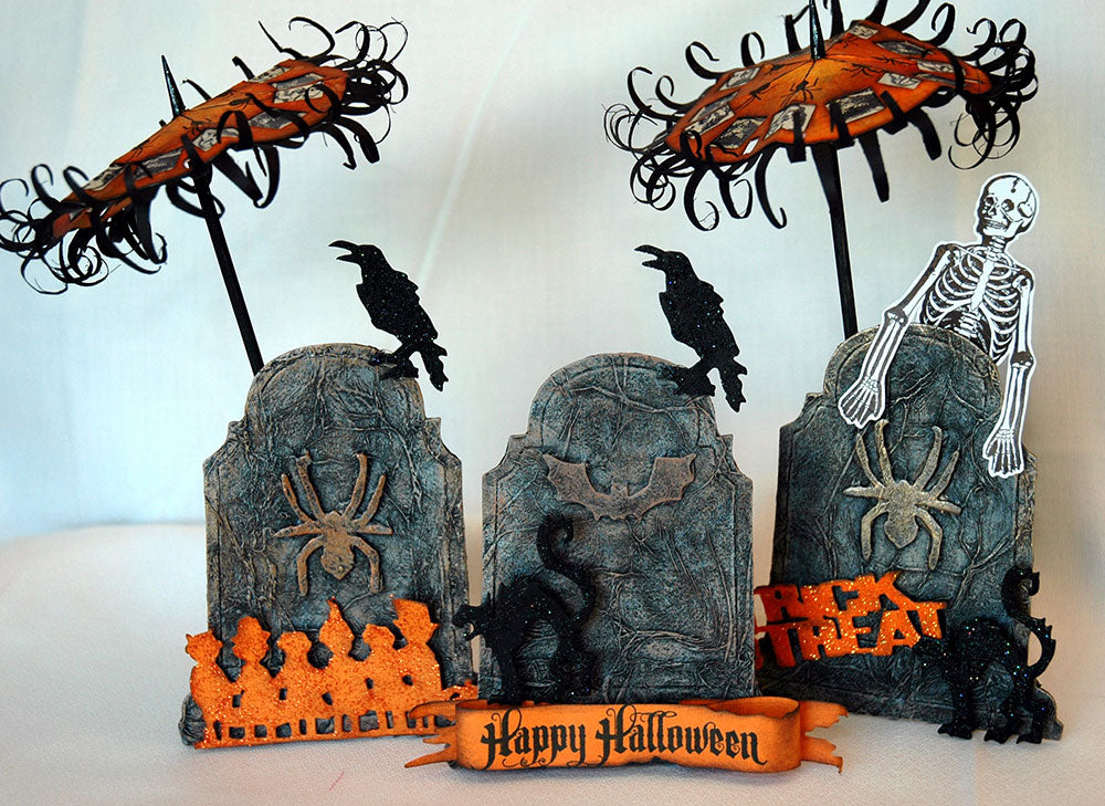 Distress Halloween Headstones